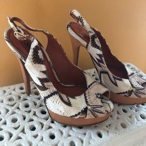 NWOT Missoni slingback heels